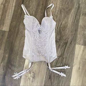 Victoria Secret Lilac Lace Bustier Corset size 32B